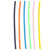 Colorful Reusable Plastic Straws Six Pack