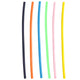 1 Straws Multi-Color Plastic Reusable Drinking Straws 6-Pack