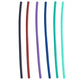 2 Straws Multi-Color Plastic Reusable Drinking Straws 6-Pack