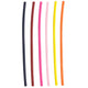 3 Straws Multi-Color Plastic Reusable Drinking Straws 6-Pack
