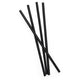 Midnight Black Straws Silicone Reusable Drinking Straws