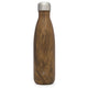 Wood Grain Wave Water Bottle Custom Wave Water Bottle - 17oz