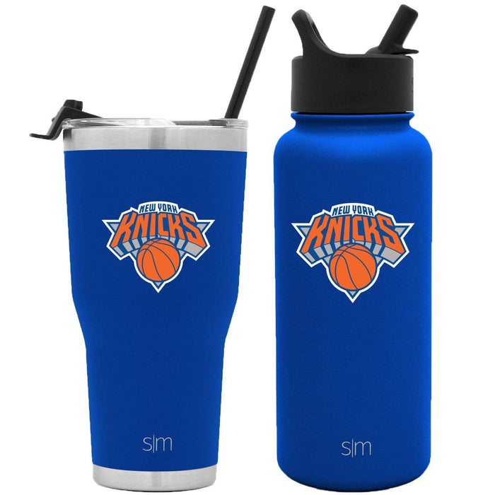 NBA Bundle New York Knicks 30oz Cruiser Tumbler with Straw and 32oz Summit with Straw Lid Bundle