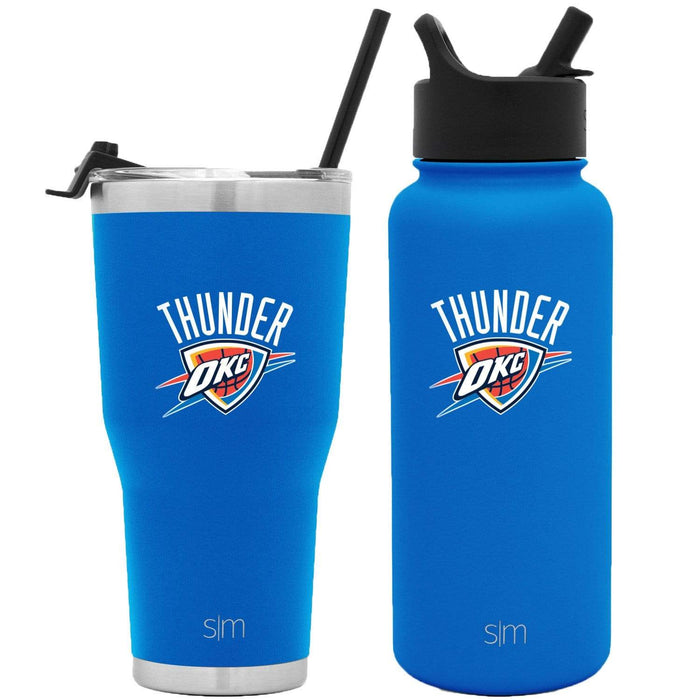 NBA Bundle Oklahoma City Thunder 30oz Cruiser Tumbler with Straw and 32oz Summit with Straw Lid Bundle