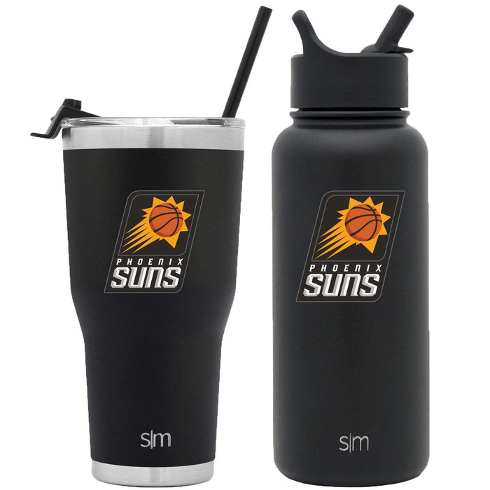 NBA Bundle Phoenix Suns 30oz Cruiser Tumbler with Straw and 32oz Summit with Straw Lid Bundle