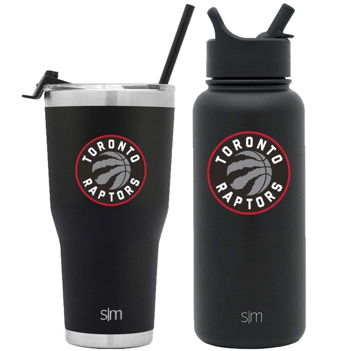 NBA Bundle Toronto Raptors 30oz Cruiser Tumbler with Straw and 32oz Summit with Straw Lid Bundle