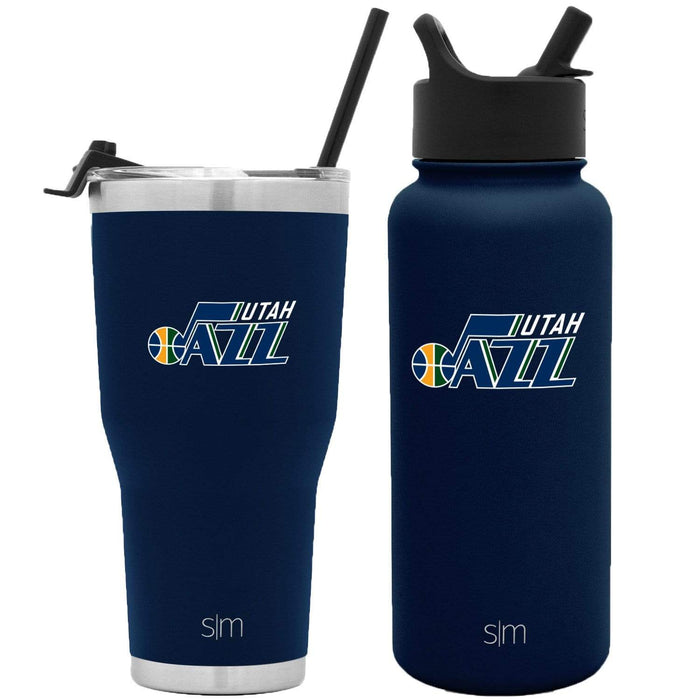 NBA Bundle Utah Jazz 30oz Cruiser Tumbler with Straw and 32oz Summit with Straw Lid Bundle
