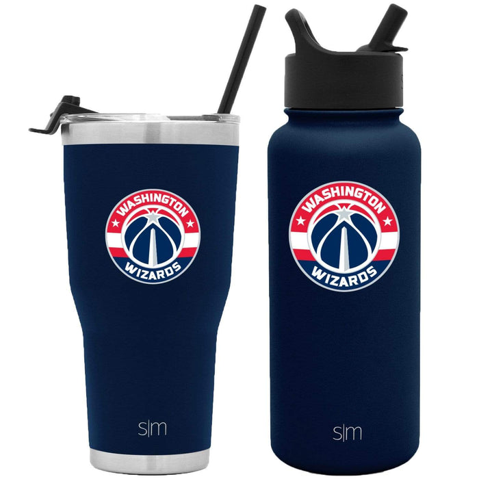 NBA Bundle Washington Wizards 30oz Cruiser Tumbler with Straw and 32oz Summit with Straw Lid Bundle