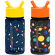 Astronauts / Solar System Summit Water Bottle Summit Kids Tritan Plastic Water Bottle with Straw Lid Two-Pack - 12oz