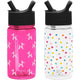 Bubble Dogs / Polka Play Summit Water Bottle Summit Kids Tritan Plastic Water Bottle with Straw Lid Two-Pack - 12oz