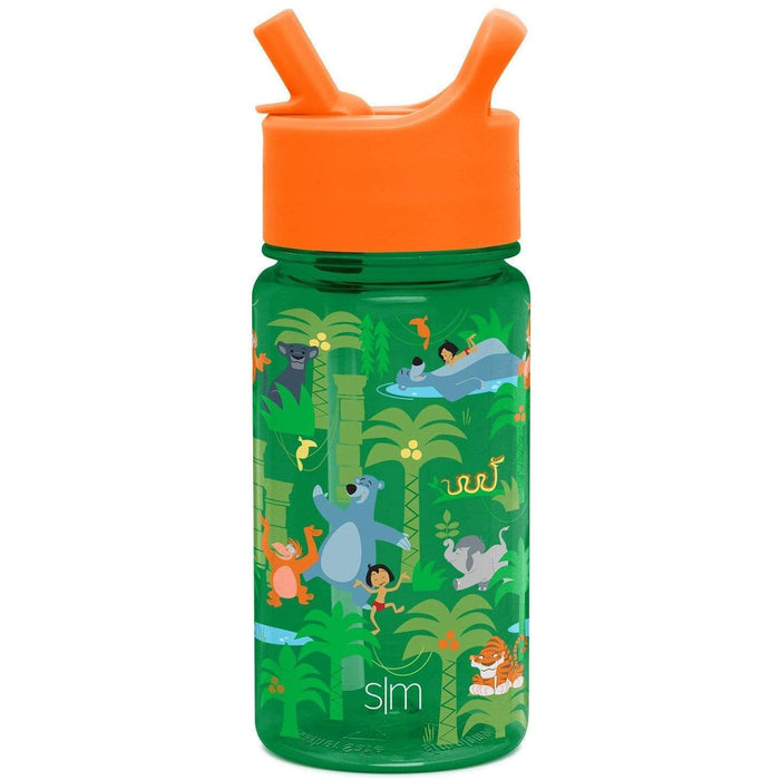 Disney Jungle Book Summit Water Bottle Summit Kids Tritan Plastic Water Bottle with Straw Lid - 16oz