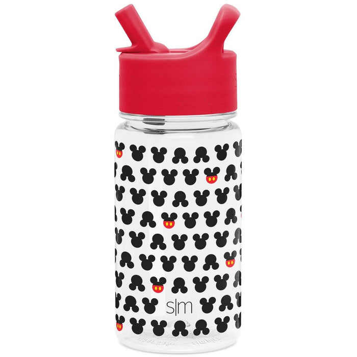 Disney Mickey Mouse Ears Summit Water Bottle Summit Kids Tritan Plastic Water Bottle with Straw Lid - 16oz
