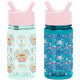 Fox and the Flower / Ladybug Garden Summit Water Bottle Summit Kids Tritan Plastic Water Bottle with Straw Lid Two-Pack - 12oz