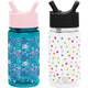 Ladybug Garden / Polka Play Summit Water Bottle Summit Kids Tritan Plastic Water Bottle with Straw Lid Two-Pack - 12oz