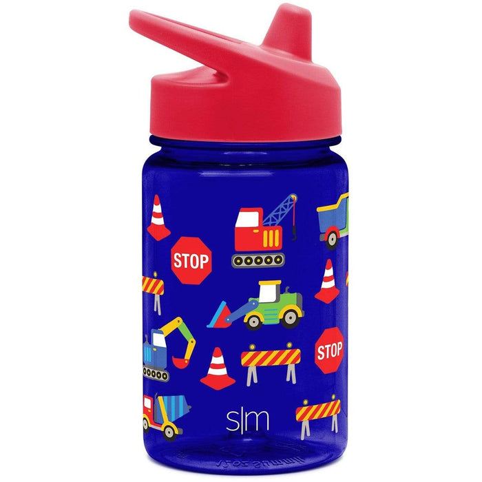 Under Construction Summit Water Bottle Summit Kids Tritan Plastic Water Bottle with Sippy Lid - 12oz
