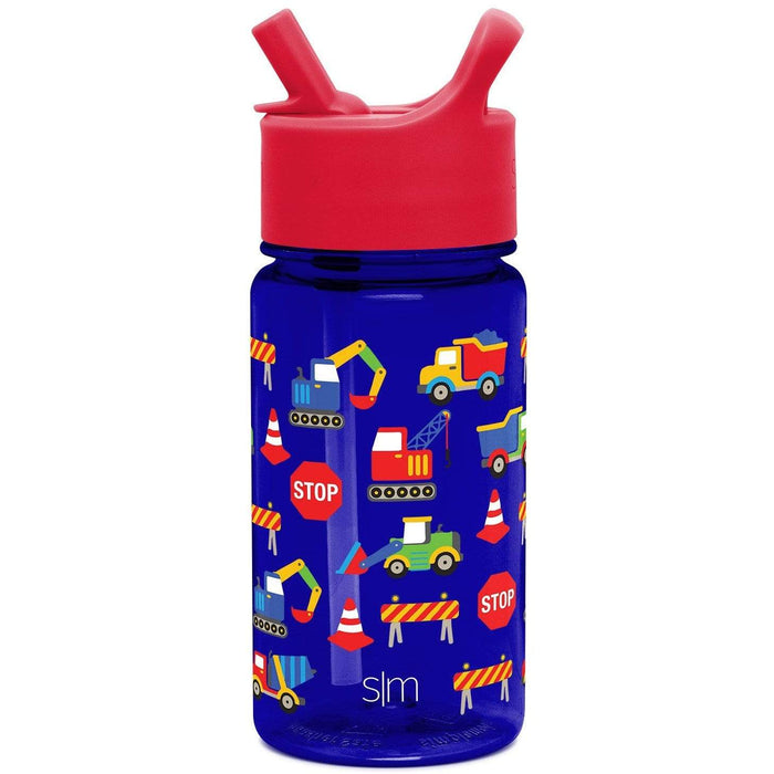 Under Construction Summit Water Bottle Summit Kids Tritan Plastic Water Bottle with Straw Lid - 16oz