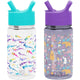 Watercolor Sharks / Woodland Friends Summit Water Bottle Summit Kids Tritan Plastic Water Bottle with Straw Lid Two-Pack - 12oz