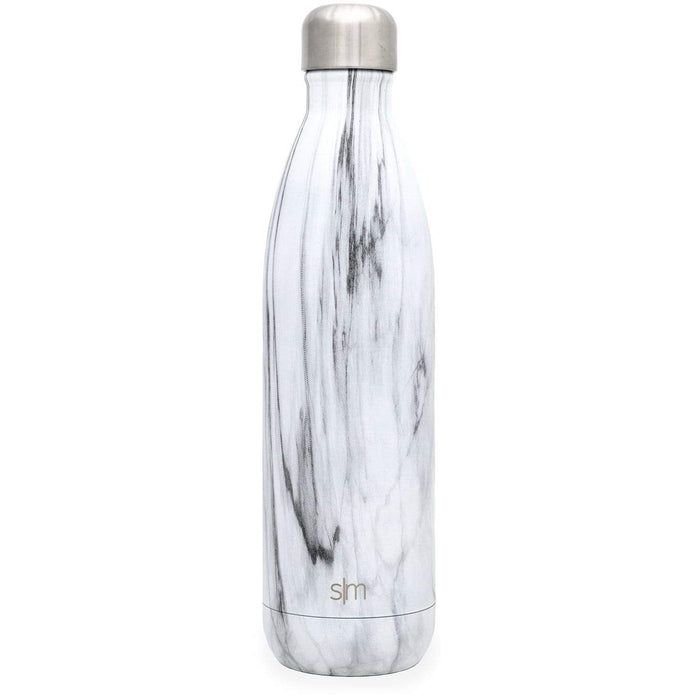 Carrara Marble Wave Water Bottle Wave Water Bottle - 25oz