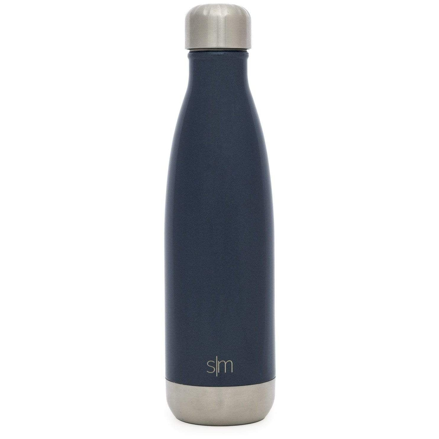 Simple Modern Stainless Steel Vacuum Insulated Double-Walled Wave Bottle Rainforest Green Shimmering Collection 17oz