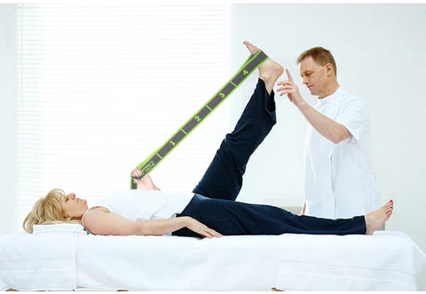 elastic yoga stretch strap for physical therapy