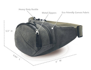 ADVENTURA™ Canvas Classic Travel Waist Fanny Pack