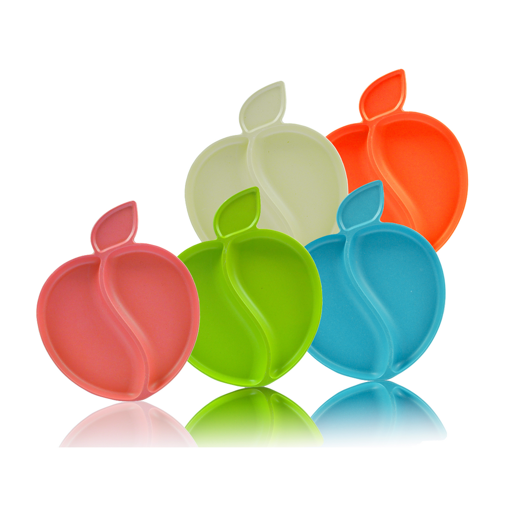 Apple Plate Set (Multi-Color) - 5 pieces