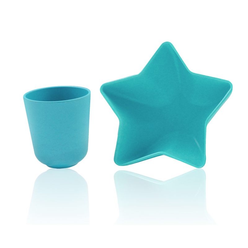 Star Bowl & Cup Blue