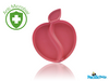 Natural Bamboo Feeding - Apple Plate Pink