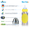 Pacific Baby Hot-Tot Stainless Steel Insulated Infant Baby 7 oz Eco Feeding Bottle Silver Yellow