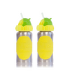 Hot-Tot 2-Pack Stainless Steel Insulated 9 oz Toddler Baby Eco Feeding Bottle
