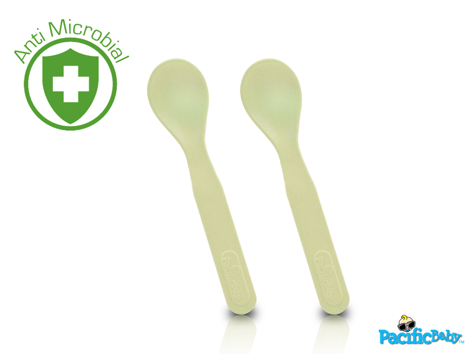 Natural Bamboo Feeding - Toddler Feeding Spoons Cream - Pacific Baby