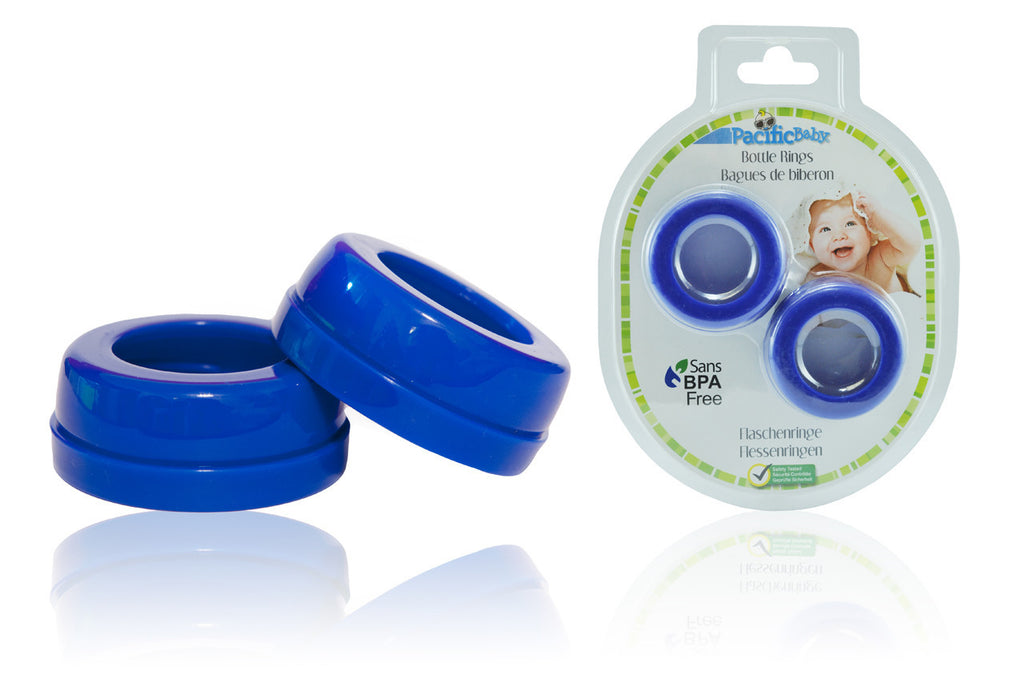 Bottle Rings - Wide Neck Blue 2 pack - Pacific Baby