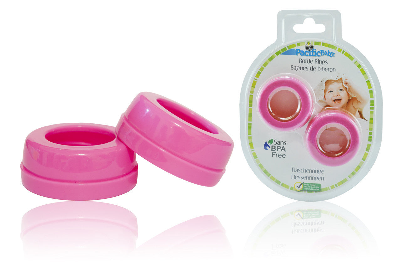 Bottle Rings   Wide Neck Pink 2 Pack
