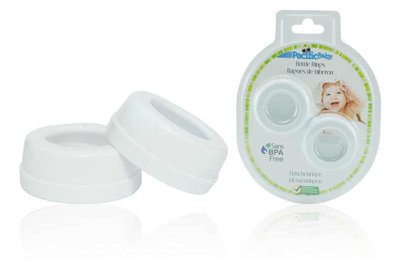 Bottle Rings - Wide Neck White 2 pack - Pacific Baby