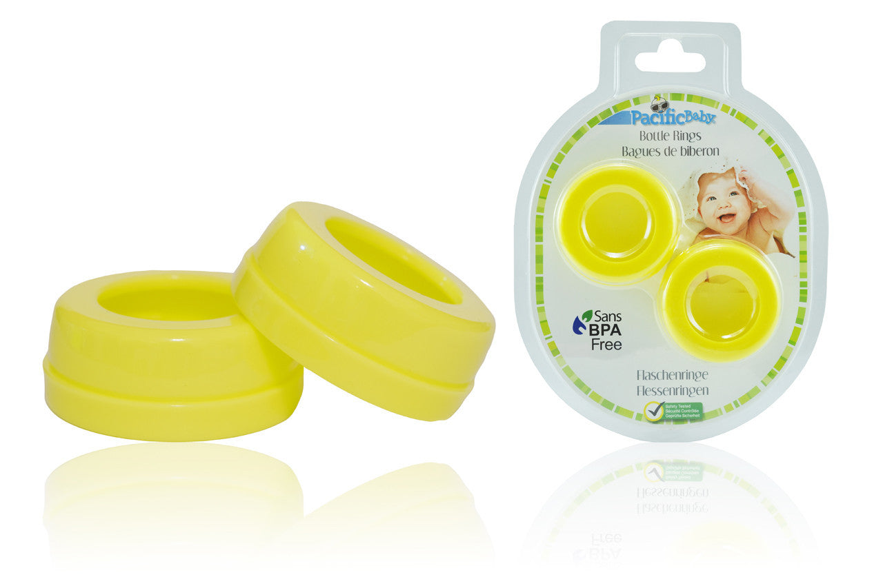Bottle Rings   Wide Neck Yellow 2 Pack