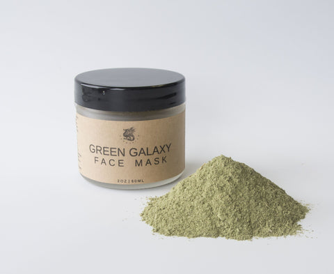 Green Galaxy Face Mask - Dragon Herbarium