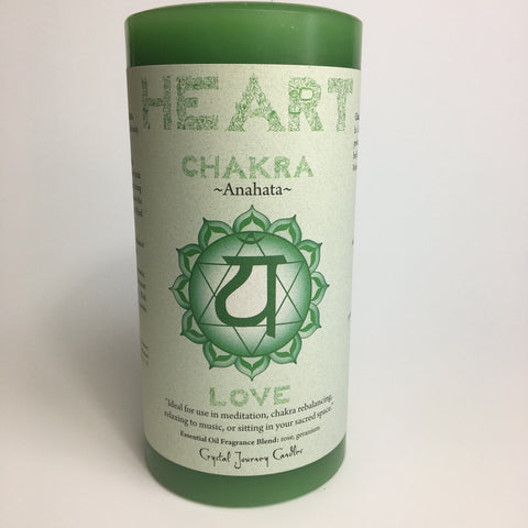 Heart Chakra - Pillar Candle - Dragon Herbarium
