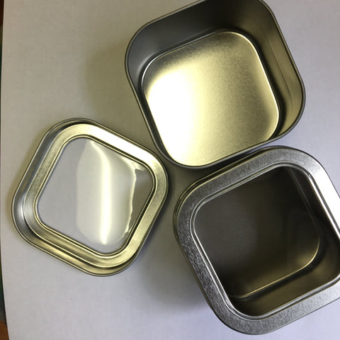 8 oz Square Metal Tin