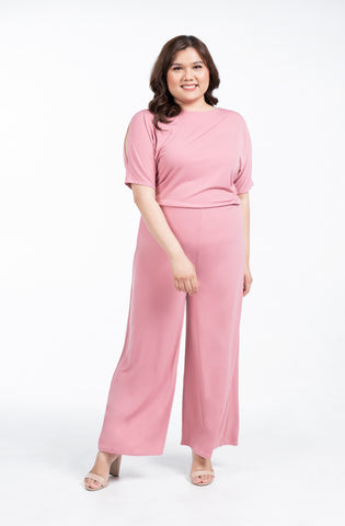 Plus Size Cut Out Sleeves Jumpsuit