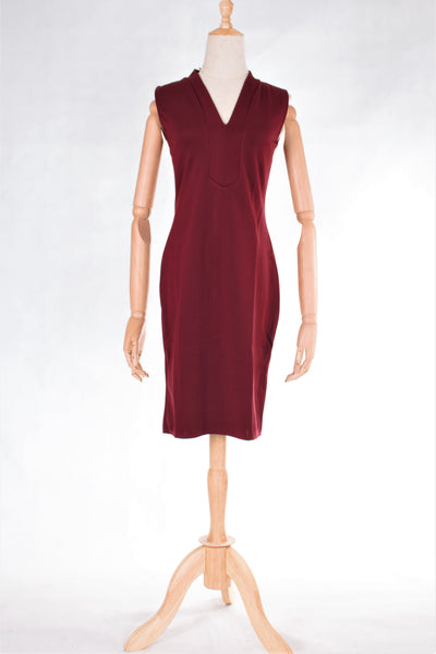 V-Neckline Sleeveless Bodycon Dress with FREE Washable Care Mask