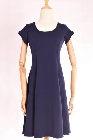 A-Line Scoop Neckline Short Sleeve Midi Dress with FREE Washable Care Mask