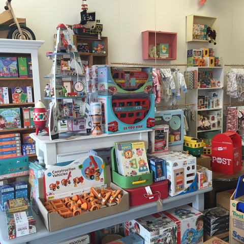 Eco toys and wooden toys - games- puzzles and organic baby clothing inside Little Earth Nest eco store at East Geelong