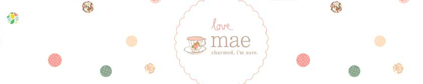 Love Mae | Fabric Wall Decals | Kids Bamboo Dinner Sets