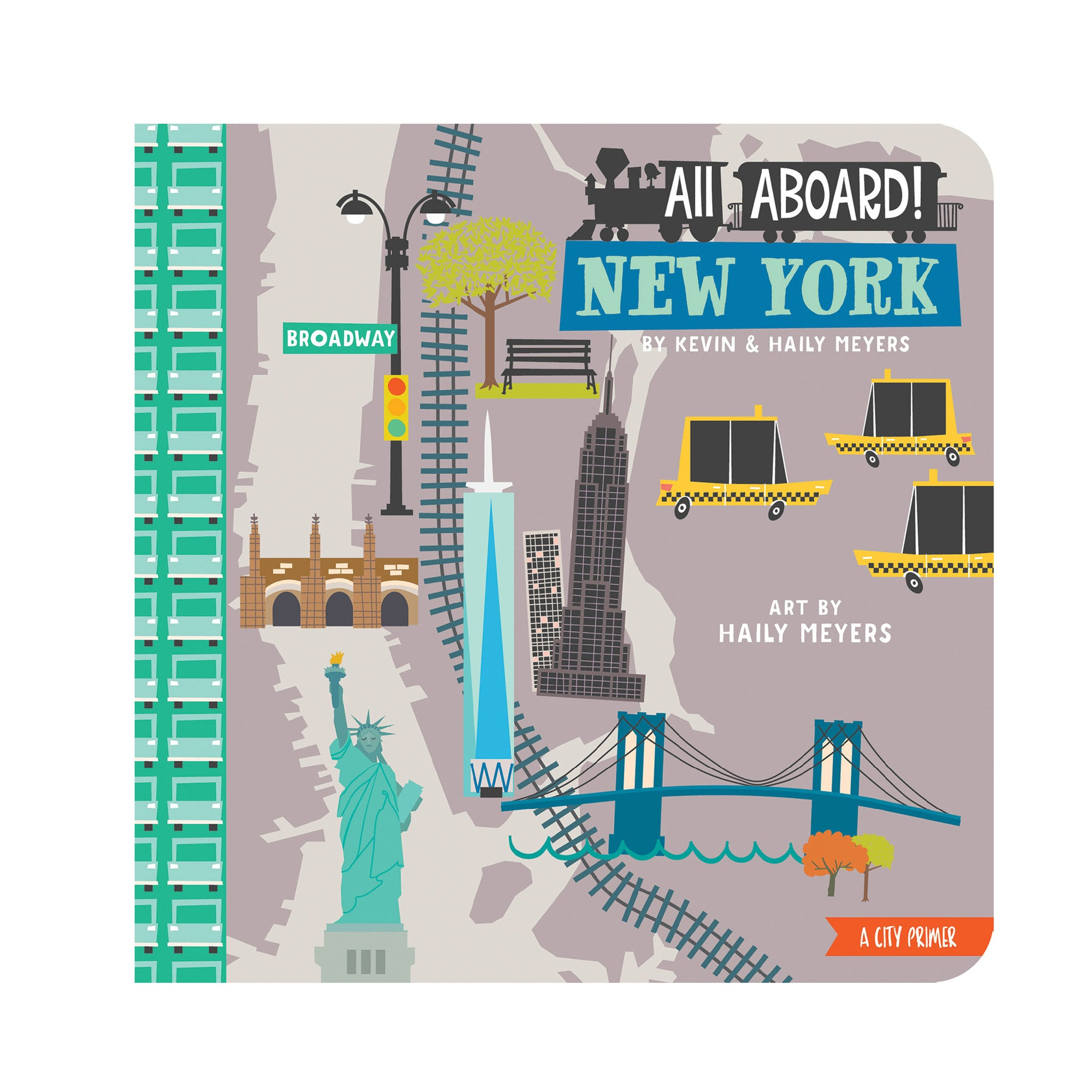 All Aboard in New York Baby Board Book Babylit Books at Little Earth Nest Eco Shop