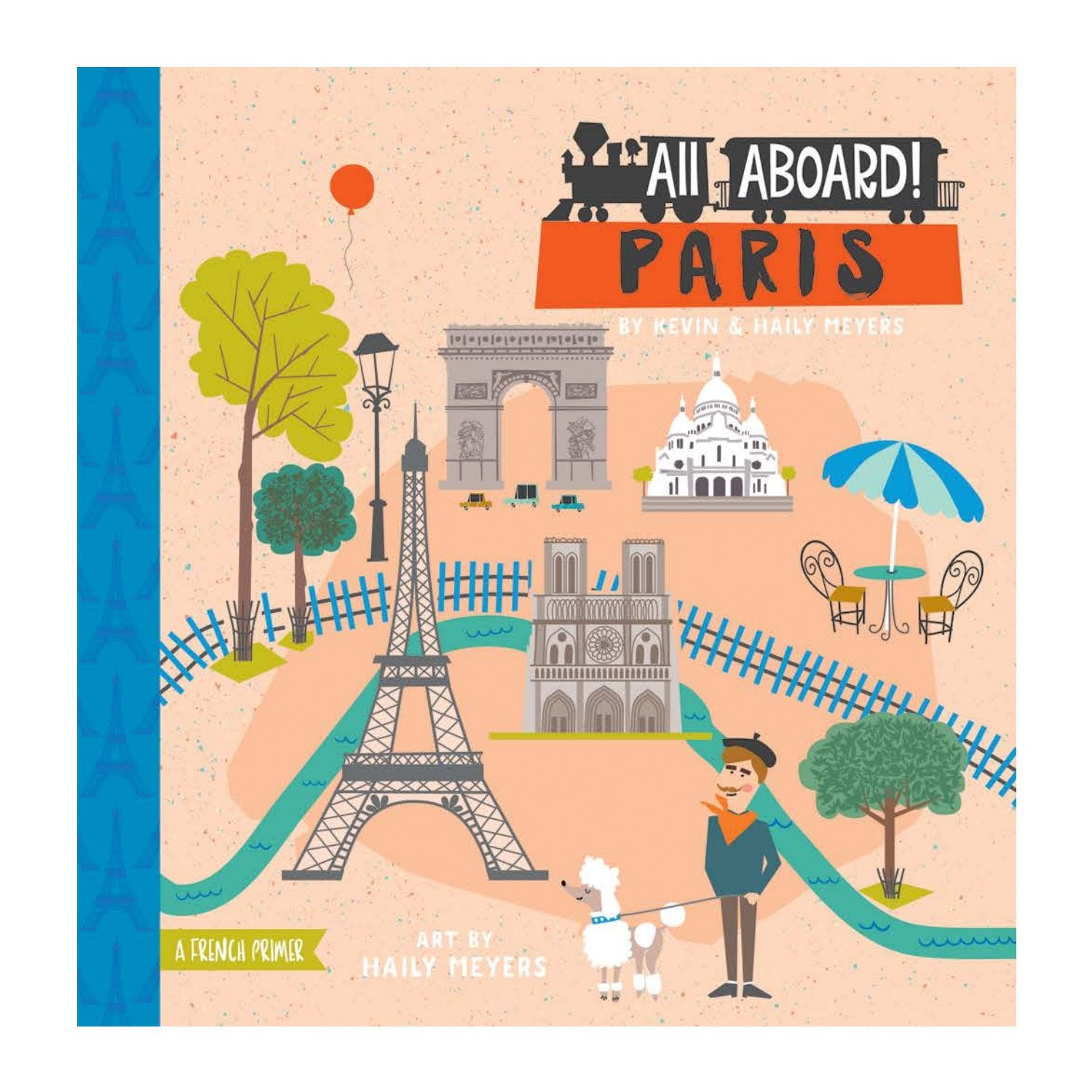 All Aboard in Paris Baby Board Book Babylit Books at Little Earth Nest Eco Shop