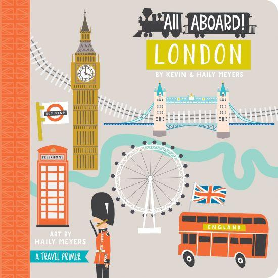 All Aboard in London Baby Board Book Babylit Books at Little Earth Nest Eco Shop