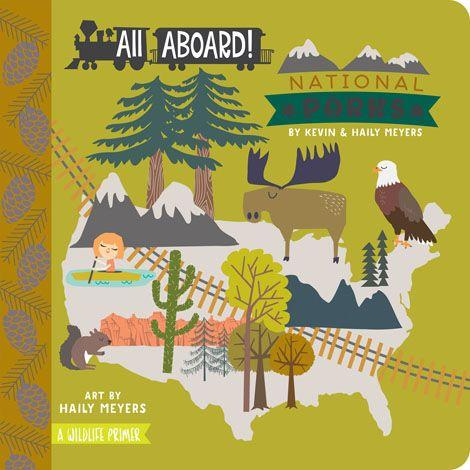 All Aboard National Parks Baby Board Book Babylit Books at Little Earth Nest Eco Shop