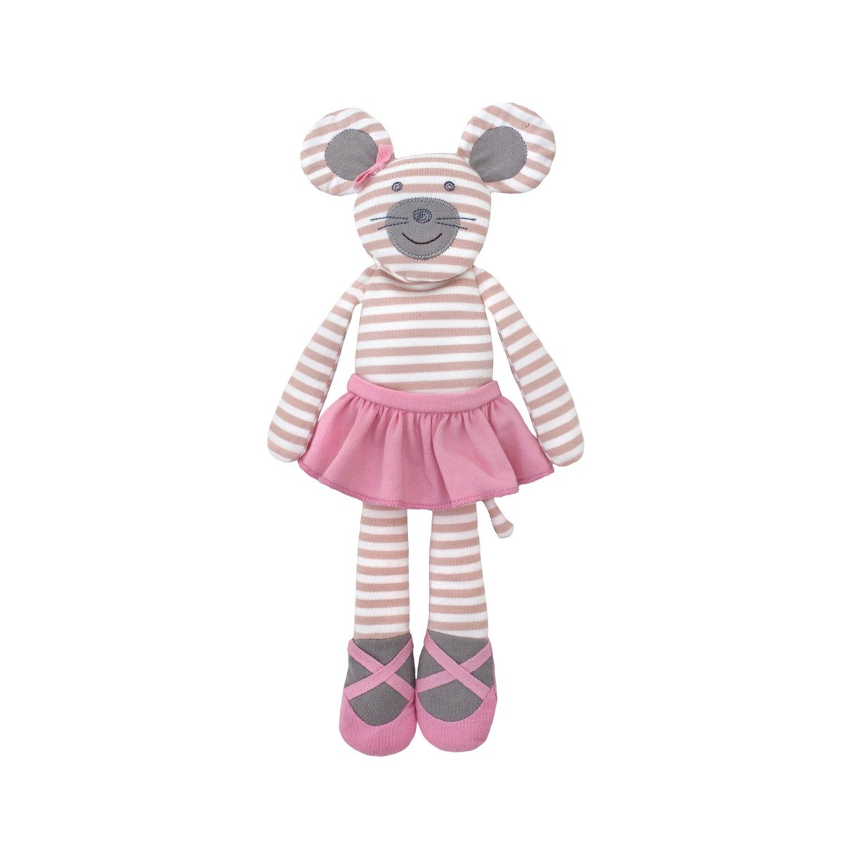 Apple Park Organic Plush Toy Apple Park Organic Baby Gifts Ballerina Mouse at Little Earth Nest Eco Shop