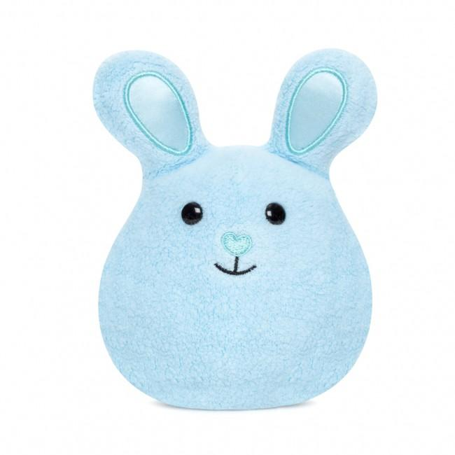 Apple Park Mini Bunny Rattle Apple Park Organic Rattles Blue at Little Earth Nest Eco Shop