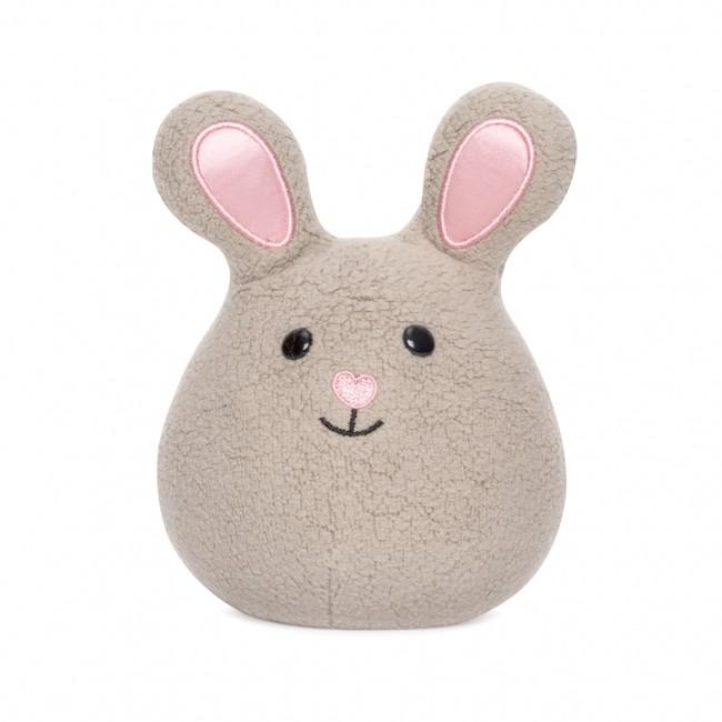 Apple Park Mini Bunny Rattle Apple Park Organic Rattles Grey at Little Earth Nest Eco Shop